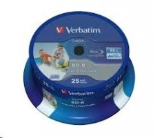 Verbatim BD-R, SL, 25GB, 6x, 25ks