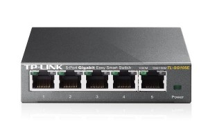 TP-Link TL-SG105E Easy Smart Switch 5x10/100/1000Mbps, Metal case, IEEE 802.1p