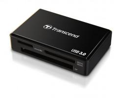 TRANSCEND čtečka paměťových karet/ externí/ USB 3.0/ černá