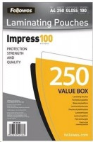 Fellowes A4 lesklý 100 Micron Laminating Pouch - 250-pack