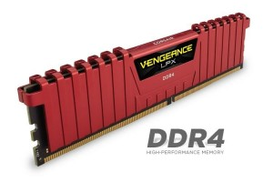 Corsair Vengeance LPX 16GB (Kit 4x4GB) 2400MHz DDR4 CL14 DIMM 1.2V, červený