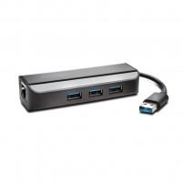 Kensington UA3000E USB 3.0 to Ethernet adaptér s USB Hub