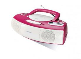 Grundig RCD 1400 pink/white