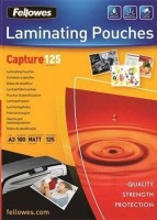 Fellowes Matt laminating pouches 125 micron, A3 100-pack