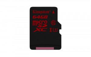 KINGSTON 64GB microSDXC UHS-I speed class 3 (U3) 90R/80W - bez adaptéru