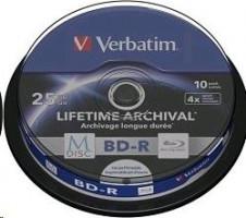 Verbatim M-Disc - 1x10 BD-R - 25 GB 4x - Povrch potisknutelný inkoustem