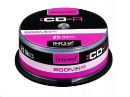 Intenso CD-R 800MB/90min - 25pcs Cake Box