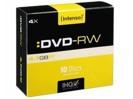 Intenso DVD-RW 4,7 GB 4x Speed - 10pcs Slim Case (4201632)
