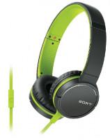 Sony MDR-ZX660APG - Sluchátka s mikrofonem - zelená