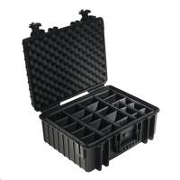 Kufr na fotoaparát B&W International Type 6000 černý s přihrádkami