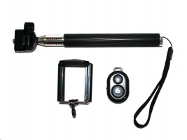 Monopod for Handy & Camera SELFIE MAKER black