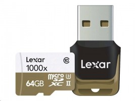 Lexar Flash card MicroSD 64GB + USB reader