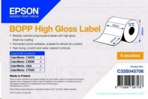 Epson - lesklé permanentní štítky, 6x1150 štítků, 76x127mm