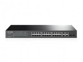 TP-Link TL-SL2428P PoE+ Smart Switch 24x10/100+ 2x Gbit RJ45+2x Combo