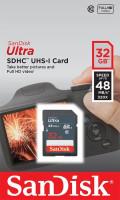 SanDisk Ultra paměťová karta SDHC 32GB čtení: až 48MB/s Class 10 UHS-I