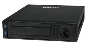 Chieftec ATM-1322S-RD 1x3.5inch bay for 2x2.5inch SATA HDD, Hot-Swap, Aluminium