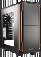 Bequiet, počítačová skříň Silent Base 600, průhledný boční panel, oranžová