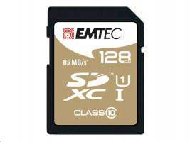 SDXC 128GB EMTEC CL10 Gold+ UHS-I 85MB/s Blister
