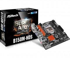 ASRock B150M-HDS, B150, DualDDR4-2133, SATA3, HDMI, DVI, mATX