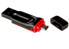 Transcend JetFlash 340 8GB OTG microUSB + USB 2.0