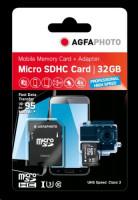 AgfaPhoto MicroSDXC UHS I 32GB Prof. vysokorychlostní U3 + adaptér