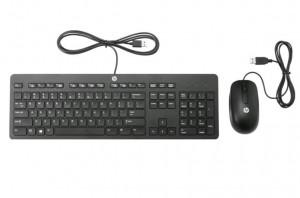 HP Slim USB klávesnice a myš - černá