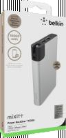 Belkin MIXIT™ Power RockStar™ 10000, 2xUSB + 1x Lightning & 1 Micro-USB kabel - stříbrný