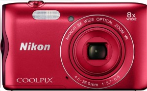 NIKON COOLPIX A300 - 20,1 MP, 8x zoom VR - Red