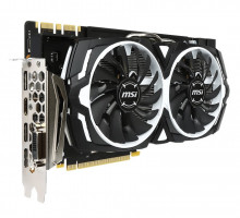 MSI GeForce GTX 1070 ARMOR 8G OC / PCI-E / 8192MB GDDR5 / HDMI / DP / DVI / VR Ready