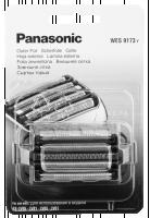 Panasonic WES9173Y Planžeta a břit