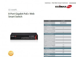 Edimax 8port Gigabit PoE+Web Smart Switch