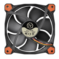 Thermaltake Fan 120mm Riing 12 LED Red