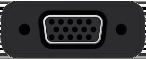 Belkin USB-C na VGA adaptér 15cm, černá F2CU037btBLK