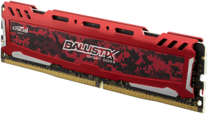 Ballistix Sport LT 8GB DDR4 2400 MT/s DIMM 288pin red