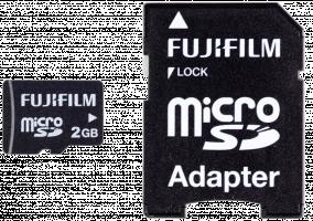 Fujifilm 2GB microSD karta vysoká kvalita vc. adapteru