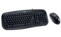 GENIUS klávesnice s myší KM-210/ drátový set/ USB/ černý/ CZ+SK layout