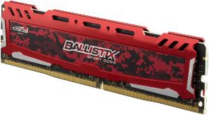 Ballistix Sport LT 64GB sada DDR4 16GBx4 2400 MT/s DIMM 288pin red