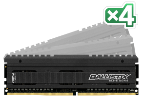 Ballistix Elite 16GB sada DDR4 4GBx4 3000 MT/s DIMM 288pin
