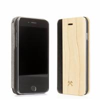 Woodcessories EcoFlip Business iPhone 5 5s SE Ochranné pouzdro maple+leather