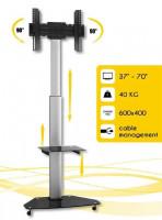 """Techly mobilní stojan pro TV LCD/LED/Plasma 37""""-70"""" VESA, pivot, nastavitelný"""