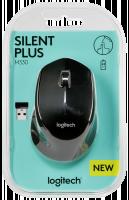 Logitech® M330 Silent Plus BLACK - IN-HOUSE/EMS,NO LANG,EMEA,RETAIL,2.4GHZ,M-R00