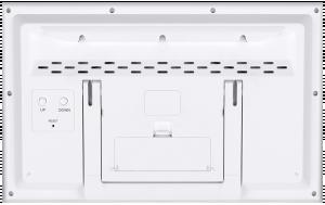 Bresser MyTime Jumbo LCD Nástěnné hodiny, bílé