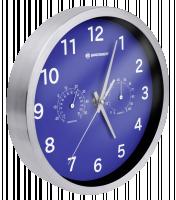 Bresser MyTime Thermo-/ Hygro Nástěnné hodiny 25cm, modrá
