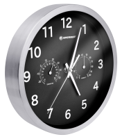 Bresser MyTime Thermo-/ Hygro Nástěnné hodiny 25cm, černá