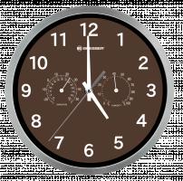 Bresser MyTime Thermo-/ Hygro Nástěnné hodinky 25cm, hnědá