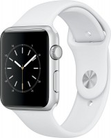 Apple Watch Series1 42mm stříbrný hliník s bílým sportovním řemínkem