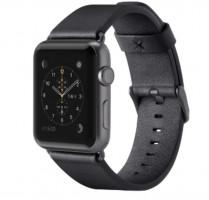 Kožený řemínek pro Apple watch (38mm), černý