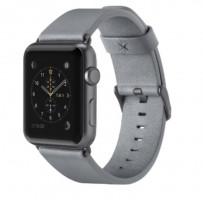 Kožený řemínek pro Apple watch (38mm), šedý