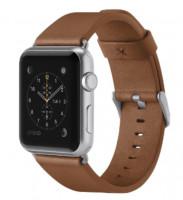 Kožený řemínek pro Apple watch (38mm) - hnědá