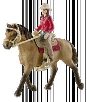 Schleich Horse Club 42112 Westernová jezdkyně na koni